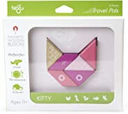 6 Piece Tegu Travel Pal Magnetic Wooden Block Set, Kitty