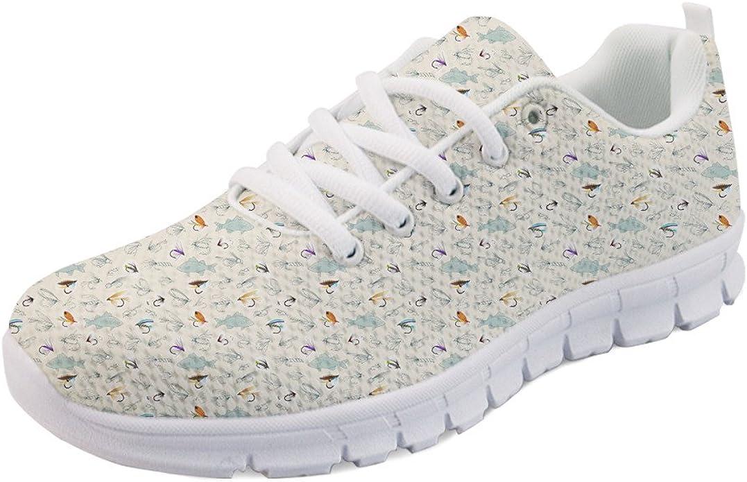 Coloranimal - Zapatillas de deporte planas para mujer, para correr y andar, primavera-verano, con estampado de dibujos animados, color, talla 41 EU: Amazon.es: Zapatos y complementos