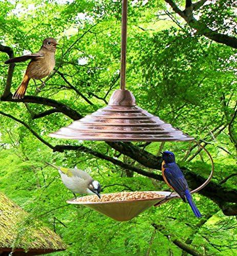 SUNLIFER Bird Feeder for Small Birds Hanging Wild Bird Seed Feeder Heavy Duty Metal Bird Feeders for Garden Outdoor