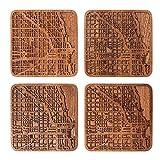 Chicago Map Coaster by O3 Design Studio, Set Of
