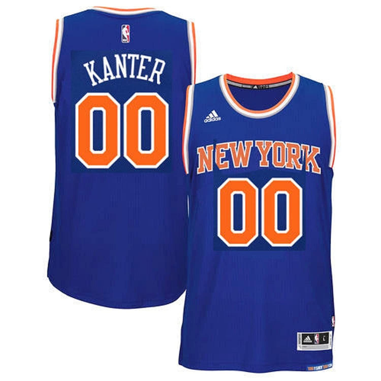 adidas Enes Kanter New York Knicks NBA Youth Blue Road Replica Jersey for sale