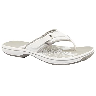 c310ba25fd0 Clarks Ladies Brinkley Mila White Flip Flops Size 3  Amazon.co.uk ...