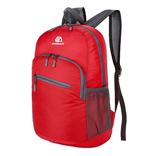 Mochila ligera de embalaje, 18L plegable de Daypack, Ultraligero al aire libre de viajes de camping de ciclismo Backpack perfecto para hombres y mujeres, ...