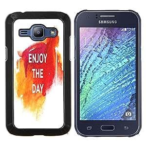 Dragon Case - FOR Samsung Galaxy J1 J100 J100H - enjoy the day - Caja protectora de pl??stico duro de la cubierta Dise?¡Ào Slim Fit
