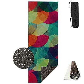Conjunto de colchonetas de yoga Círculo punteado abstracto ...