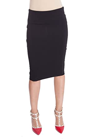 ee1d62910 Esteez Ponte Pencil Skirt for Women Below Knee Skirt Houston Black Small at  Amazon Women's Clothing store: