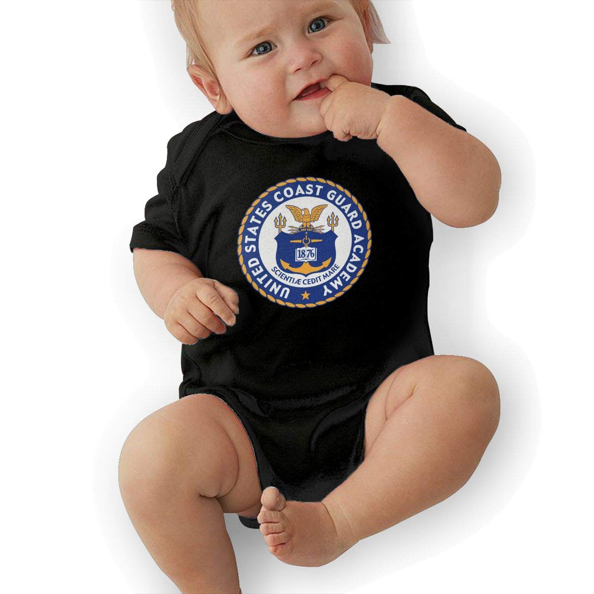 United States Coast Guard Academy Logo Baby Pajamas Bodysuits Clothes Onesies Jumpsuits Outfits Black