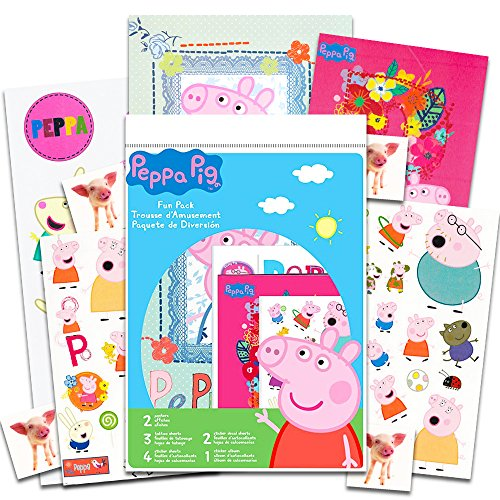 Peppa Pig Party Supplies Set for Boys Girls ~ Over 60 Stickers, 60 Temporary Tattoos, 17 Large Wall Decals, 2 Posters and More (Peppa Pig Party Favors and Decorations -