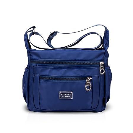 Nicole Doris Women Handbags Shoulder Bag Crossbody Bag Hobo Tote Satchel Purse  Large Capacity Waterproof Nylon Dark Blue  Amazon.co.uk  Luggage b7727625e84be