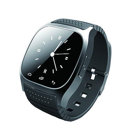 GIMTVTION M26 - Reloj inteligente con Bluetooth, reloj de pulsera SMS con monitor de pasómetro
