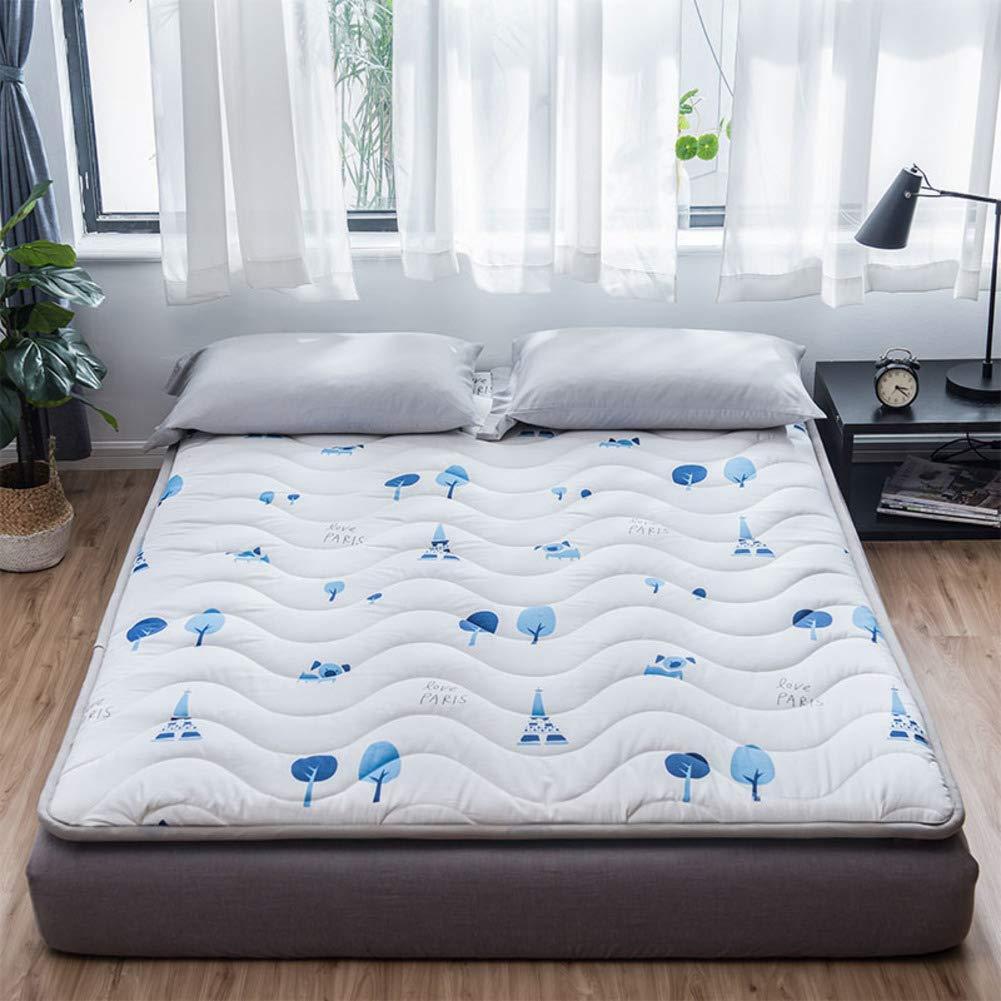 夏の睡眠マット, 通気性 滑り止め ベッドパッド 和風 布団 床マット 学生 寮 マットレス トッパー パッド-f B07SHFGC7K