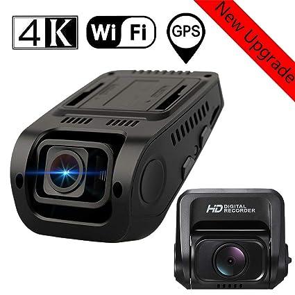 4K 2160P WiFi GPS Dashcam con Cámara Trasera de Coche Dobles ...