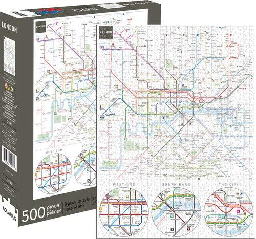 Aquarius London Underground 500 Piece Jigsaw ()