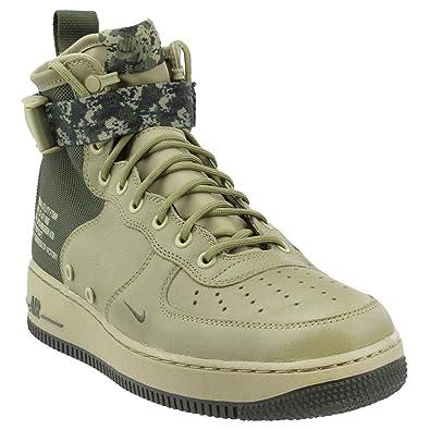 2989a76526 Nike Men's SF Air Force 1 Mid Shoe Neutral Olive/Cargo Khaki (9.5 D ...