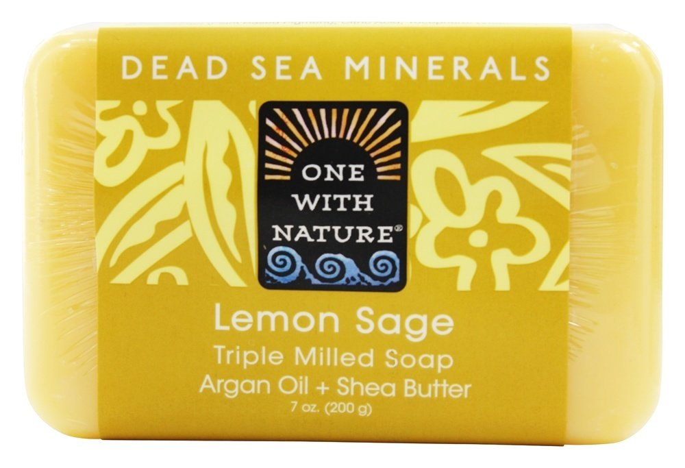 One With Nature Dead Sea Mineral Soap, Lemon Sage, 7-Ounces (Pack of 6)