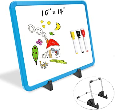CYOS Dry Earser Non-Magnetic Double Sided Whiteboard Mini Office Notice Memo Learning Board with Pen 9x12 inches 1 Pc