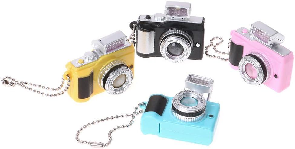 con torcia a LED e luci Portachiavi creativo a forma di macchina fotografica divertente Siwetg giocattolo blu
