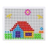 iVee International Creative Mushroom Nails Pegboard Children's Educational Bricks Toys Puzzle Block (Pack of 2)