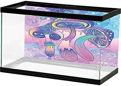 Amazon Com Sllart Fish Tank Background Mushroom Trippy Drawing