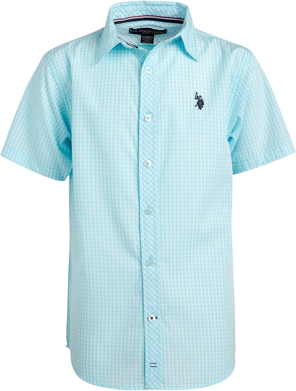 2 Pack U.S Boys Short Sleeve Woven Shirt Polo Assn
