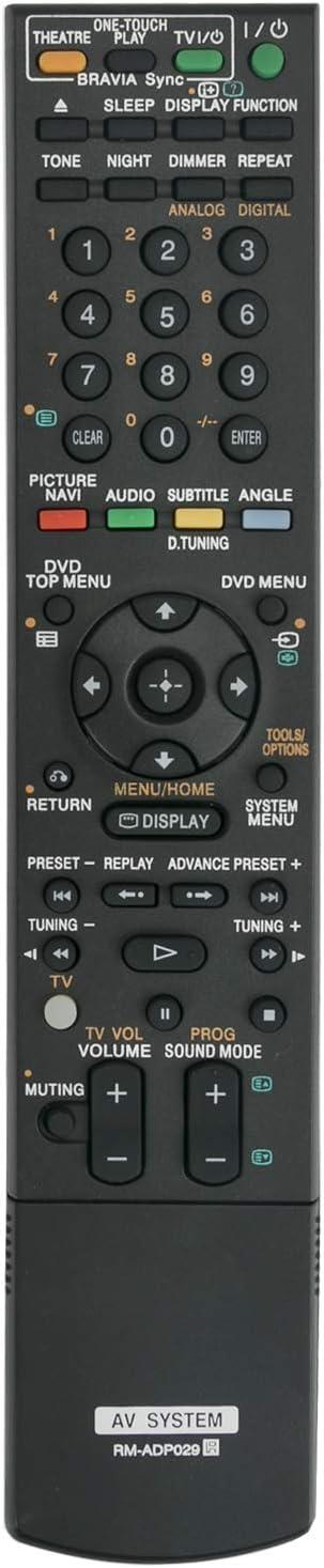 ECONTROLLY New Remote Control RM-ADP029 rm-adp029 RMADP029 for Sony AV System Theater System DVD DAV-F200 DAV-I550 HCD-F200 DAV-IS50