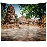 Westlake Art - Ruin Thai - Wall Hanging Tapestry - Picture Photography Artwork Home Decor Living Room - 68x80 Inch (999F1)