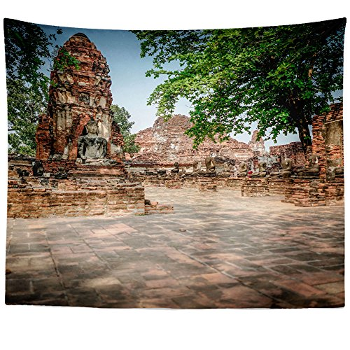 Westlake Art - Ruin Thai - Wall Hanging Tapestry - Picture Photography Artwork Home Decor Living Room - 68x80 Inch (999F1) by Westlake Art