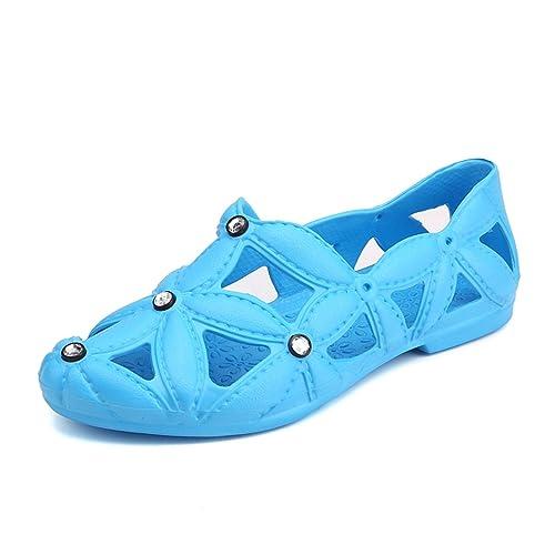 ed7230d1c gracosy Zapatos de Playa para Mujer Sandalias de Verano Hollow out Aqua  Calzado de Agua de ...