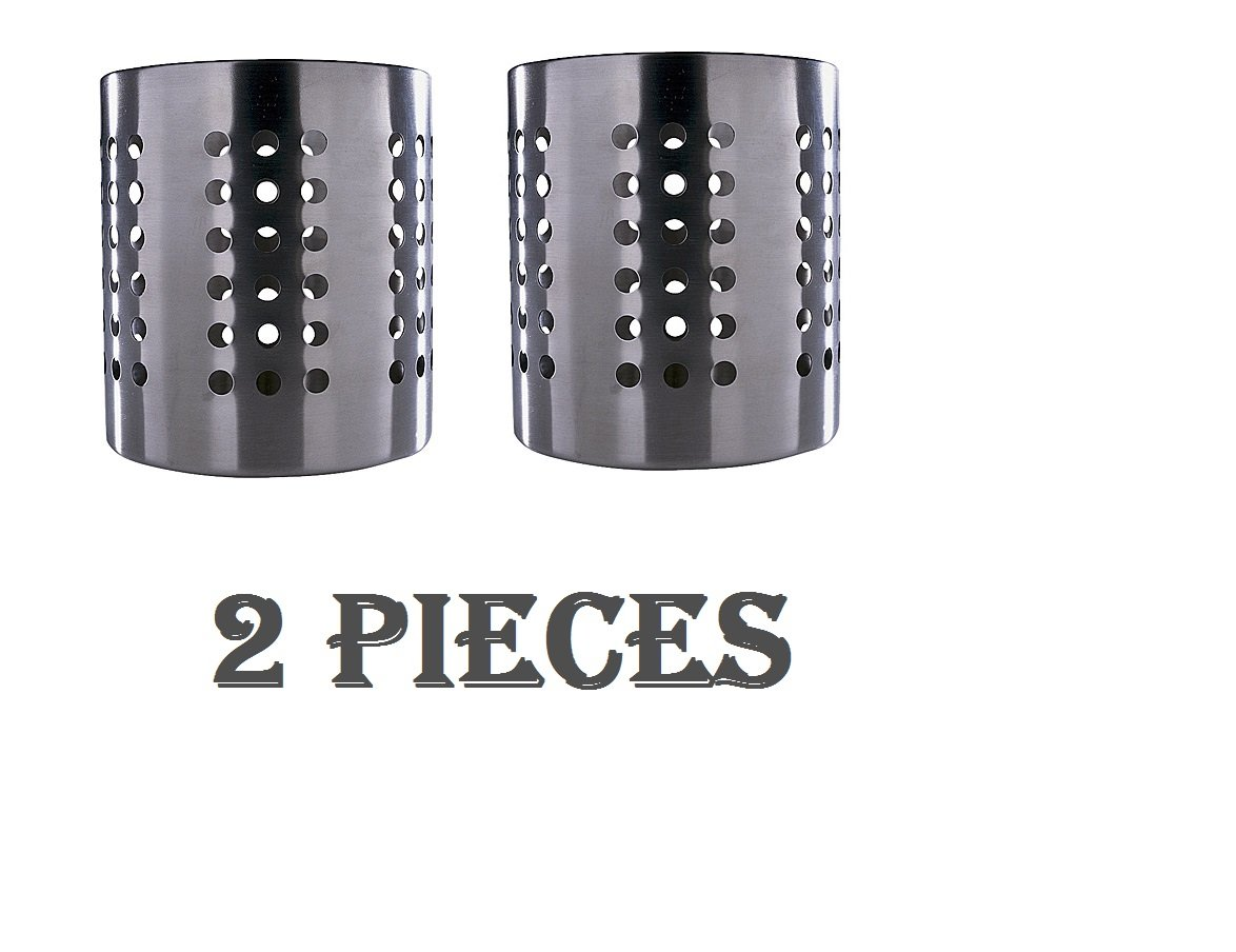 Ikea Caddy Cutlery Utensil Holder Stainless Steel (2 Pack) 5''