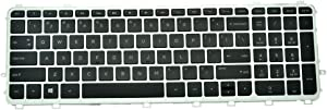 Eathtek Replacement Keyboard with Backlit and Silver Frame for HP Envy 15-J 15Z-J 17-J 17T-J 17-J106TX 17-J110EW 17-J120US 17-J130CL 17-J150 Series Black US Layout, 711504-001 711505-001 NSK-CN4BV