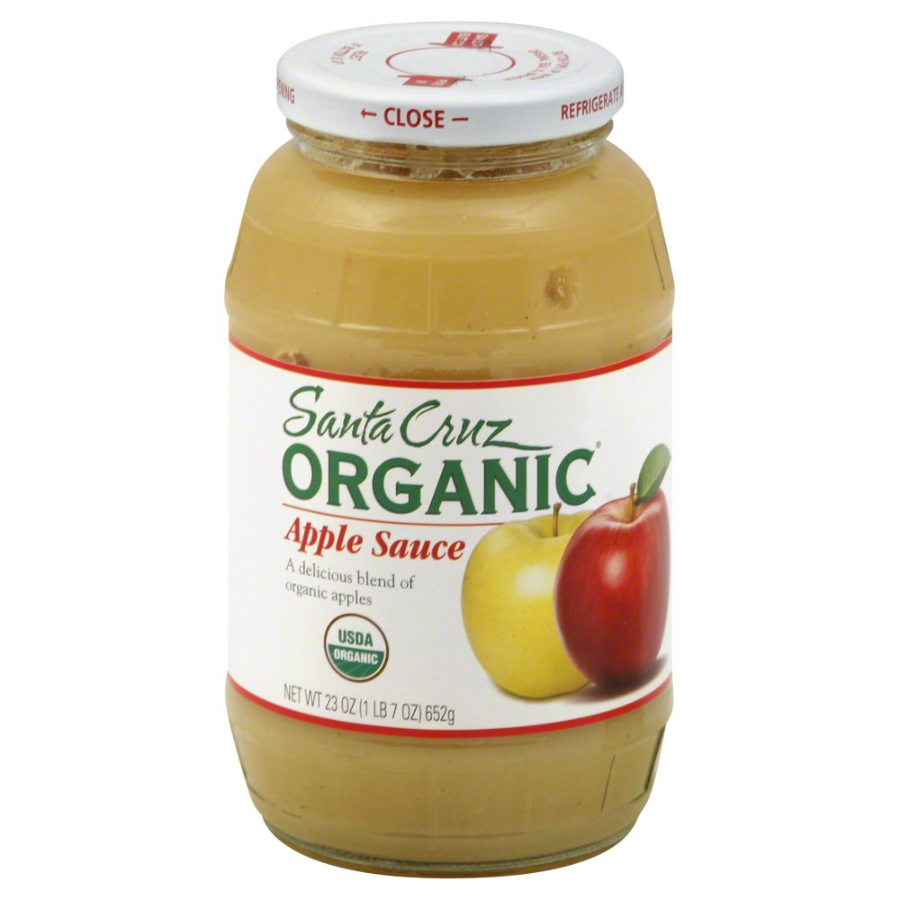 Santa Cruz Organic Apple Sauce, 23 Ounce - 12 per case.