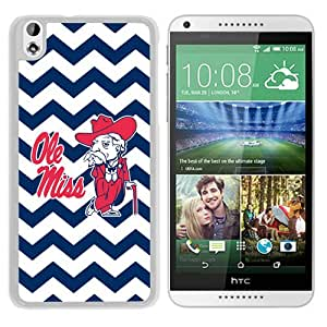 Diy Southeastern Conference SEC Football Ole Miss Rebels 02 White HTC Desire 816 Protective Phone Case