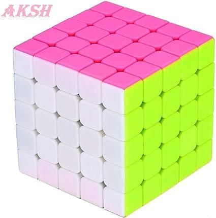 AKSH Rubiks Cube 5x5 Rubix Cube high Speed stickerless Magic Rubic Rubick Cube 5x5x5 Brainstorming Puzzle Game Toy (qiyi 5*5 Cube)