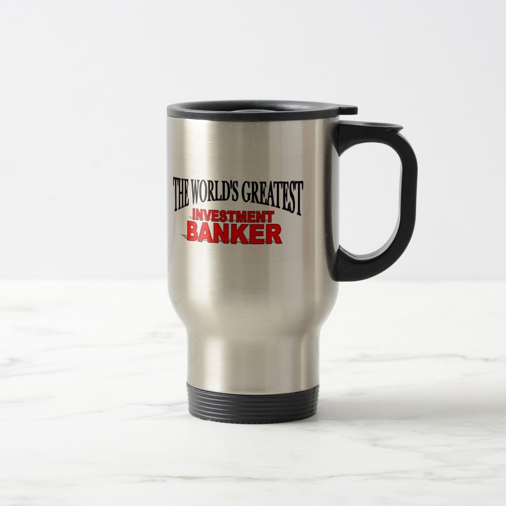 Zazzle The World's Greatest Investment Banker Two-tone Coffee Mug, Stainless Steel Travel/Commuter Mug 15 oz