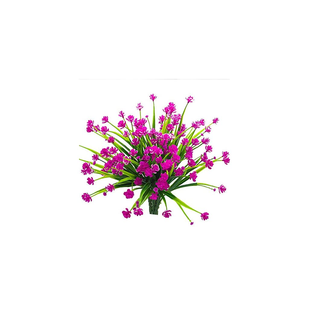 NEWDUS-Artificial-Fake-Flowers-6-Bundles-Outdoor-UV-Resistant-Greenery-Shrubs-Plants-Indoor-Outside-Hanging-Planter-Home-Garden-DcorPurple