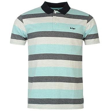 Lee Cooper Herren Poloshirt Gr. S, weiß / blau