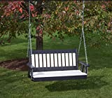 5FT-BRIGHT WHITE-POLY LUMBER Mission Porch Swing Heavy Duty EVERLASTING PolyTuf HDPE - MADE IN USA - AMISH CRAFTED