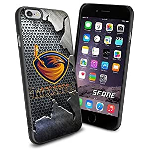 Atlanta Thrashers Crack Iron WADE2070 Hockey iPhone 6 4.7 inch Case Protection Black Rubber Cover Protector