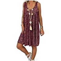neveraway Women Plus-Size Casual Short Mini Classic Cozy Garden Party Dress