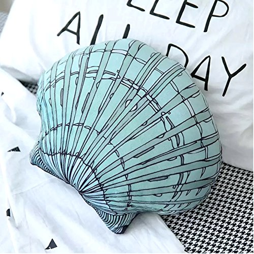 Hiltow Seashell Shaped Throw Pillow for Couch Sofa Home Decor
