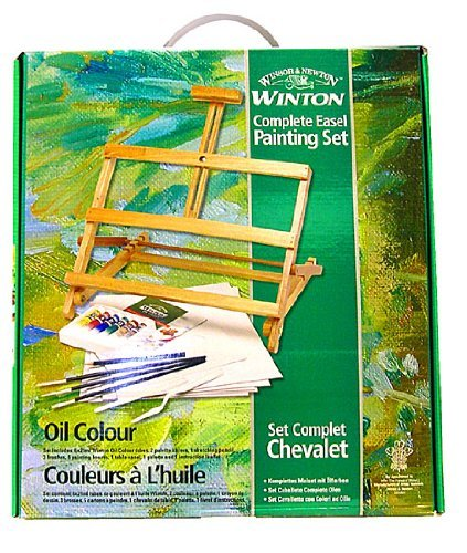 Winsor and Newton Complete Oil Color Painting Set with Adjustable Easel Complete Oil Painting Set