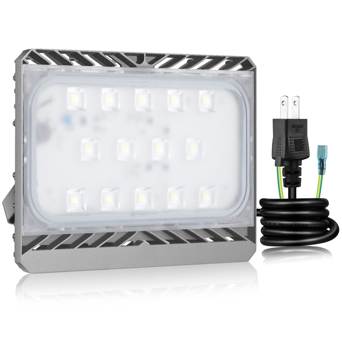 【三年保証】SOLLA Sliver 高品質LED投光器 70w 6000K 昼白色 CREE製素子 日本レベル筐体 IP65防水防塵 長寿命 フラッドライト 作業灯 防犯灯 B01MQT06AV 70w|昼白(6000K) 昼白(6000K) 70w