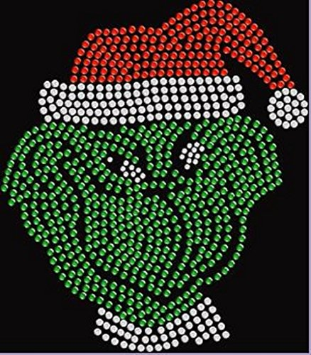 Christmas Grinch Rhinestone Iron on T Shirt Design