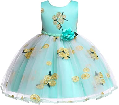 Toddler Kids Baby Girls Tutu Dress Bowknot Floral Party Prom Casual Clothes 2-7Y