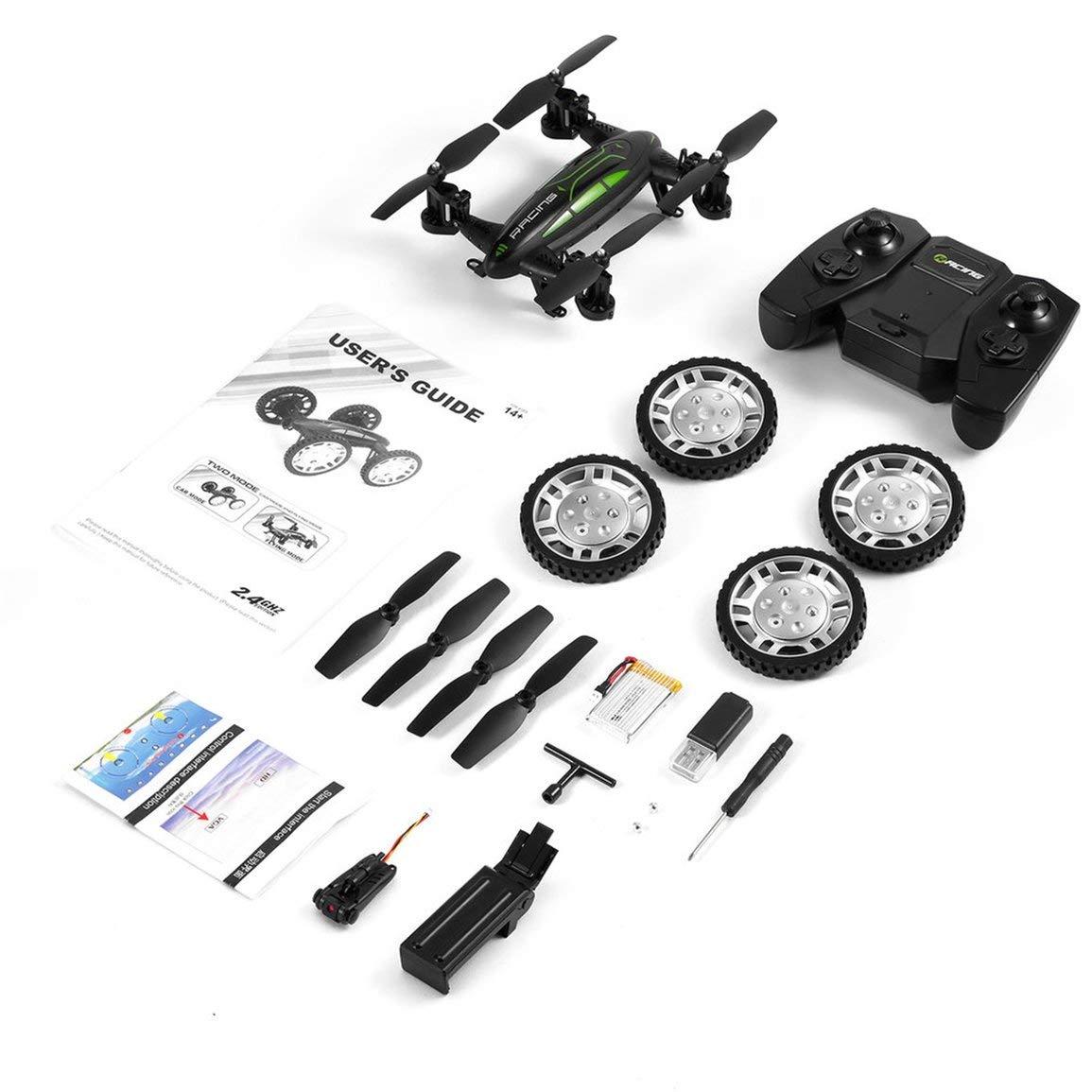 Felices compras Fantasyworld Aire Carretera Modelo Doble FY602 Flying Coche Coche Coche con la cámara HD 2.4G RC Quadcopter Drone 6-Axis 4 Canales helicóptero Run Lados Dobles  tienda en linea