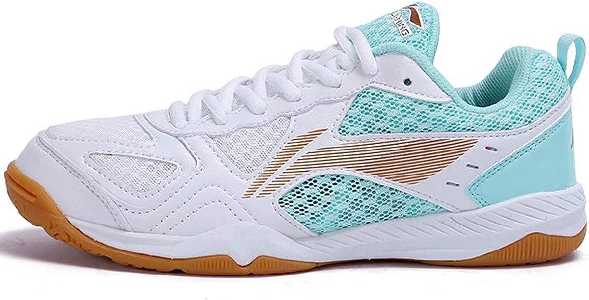 LI-NING APTP002 - Zapatillas de Tenis de Mesa para Mujer (Transpirables), (Aptp002 Blue), 38 EU: Amazon.es: Zapatos y complementos