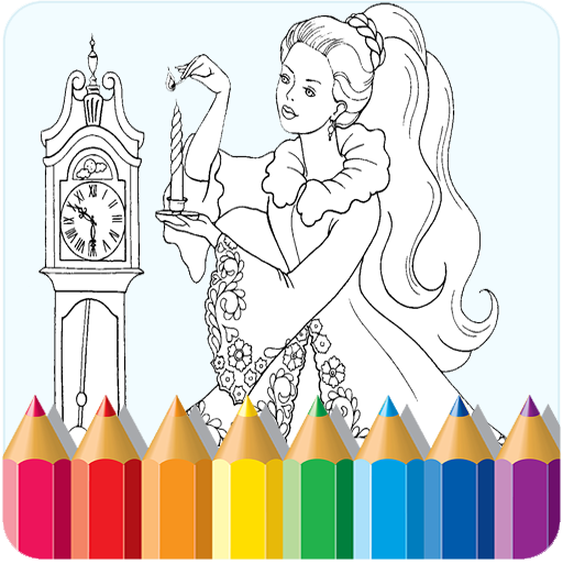 Best Coloring Game for Kids (Christmas Drawings Scenery)