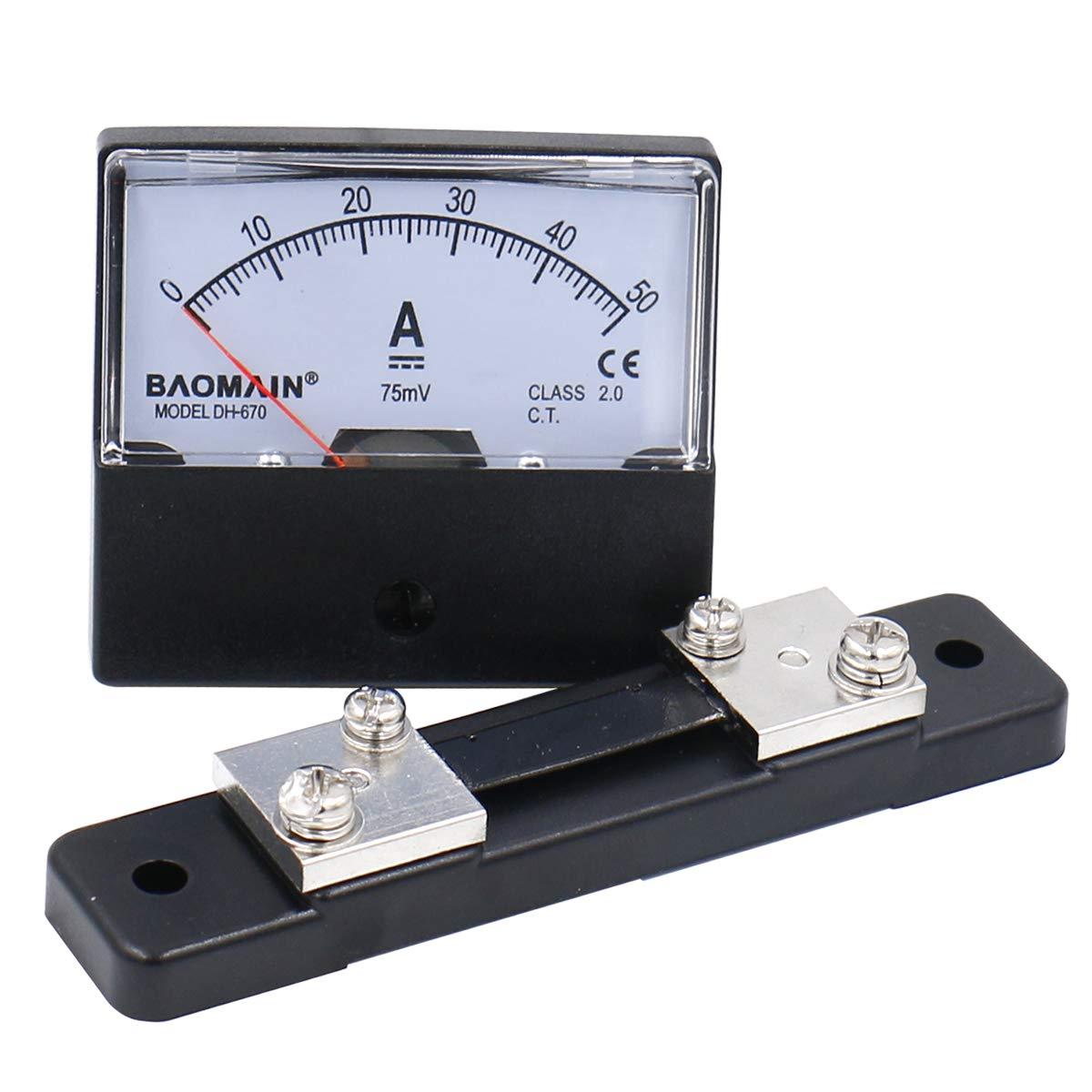 Analog Digital Panel Meters 30Amp 75mV DC Current Shunt
