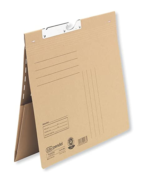 Elba 90483 - Archivador colgante (texto en alemán, cartón Manila reciclado, 250 g