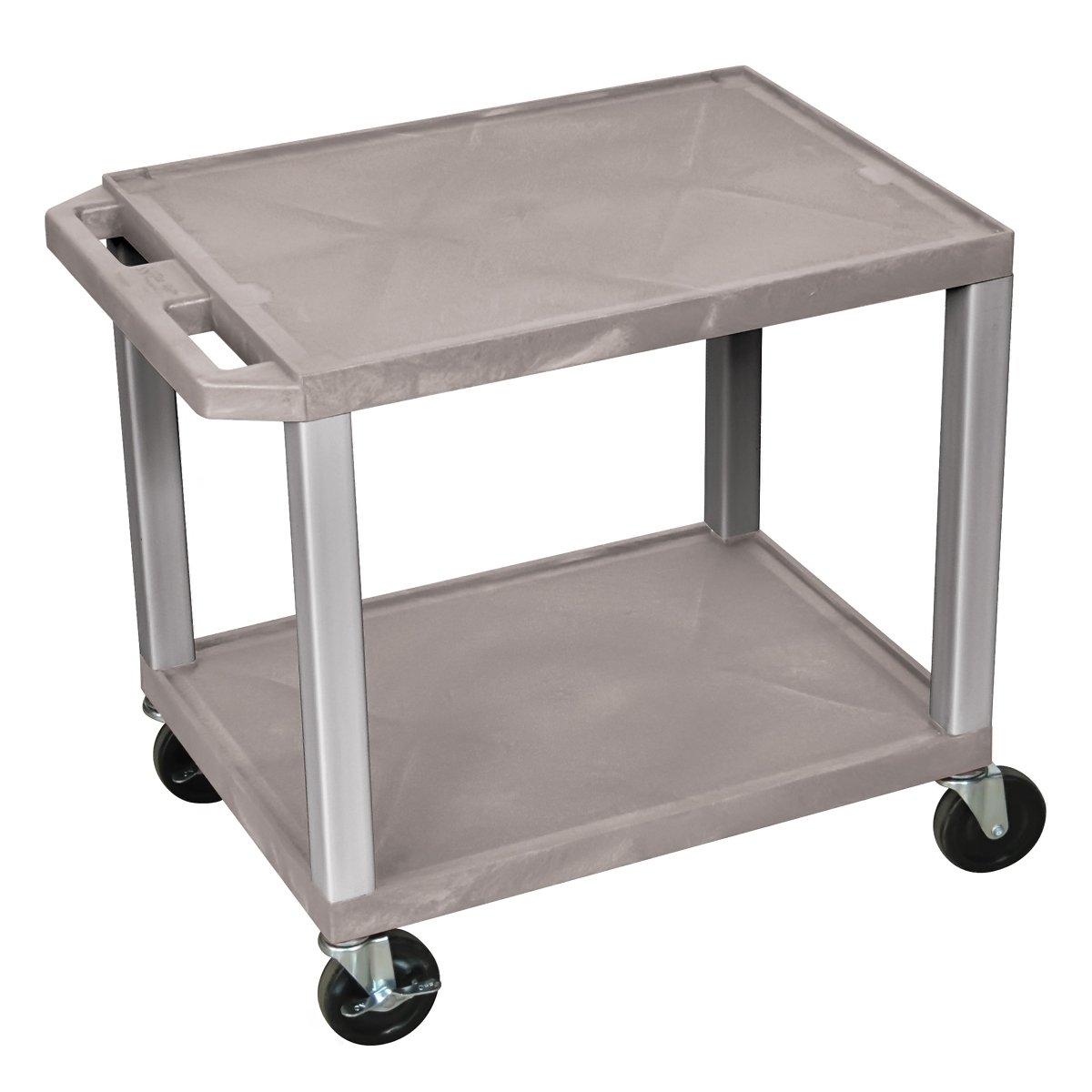 Luxor Tuffy WT26-N Multipurpose 2 Shelves AV Cart – Nickel Legs